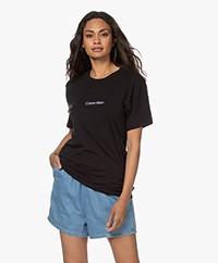 Calvin Klein Modern Structure Katoenmix T-shirt - Zwart