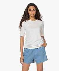 by-bar Maya Puur Linnen T-shirt - Off-white