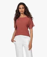 Plein Publique La Scott Short Sleeve Sweater - Rosewood