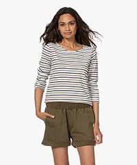 Plein Publique Striped Long Sleeve L'Aimee - White/Black/Camel