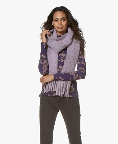 Filippa K Slim Chunky Wool Sjaal - Pink Sky