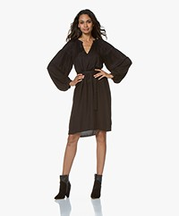 by-bar Anna Embroidered Dress - Jet Black
