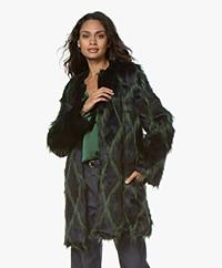 Zadig & Voltaire Louisy Fake Fur Coat - Marine