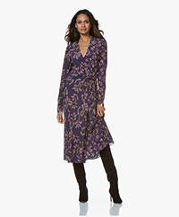 Rag & Bone Odette Printed Midi Dress - Violet