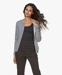 Belluna Goodmann Cardigan with Layered Details - Mid Grey/Light Ash