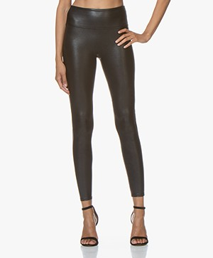 SPANX® Ready-to-Wow! Faux Leather Leggings - Black