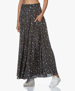 Zadig & Voltaire Joyo Floral Print Maxi-skirt - Black
