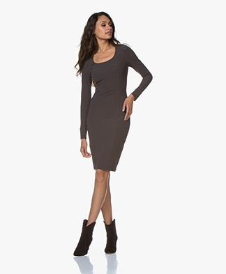 Josephine & Co Gasparo Travel Jersey Dress - Dark Brown