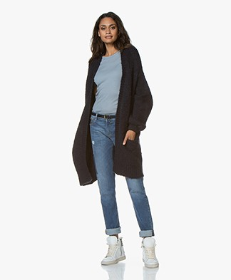 by-bar Mirjam Oversized Open Cardigan - Midnight