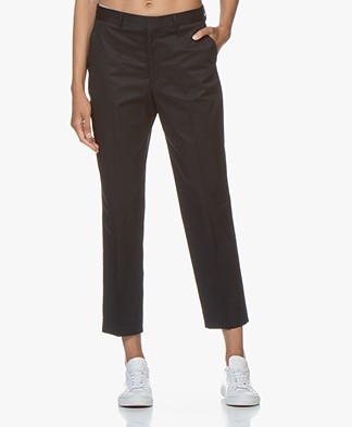 Filippa K Emma Cropped Cotton Pants - Navy