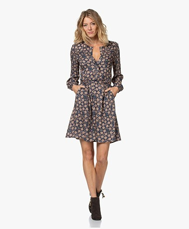 indi & cold Viscose Print Dress - Marine