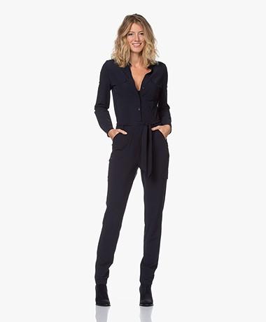 JapanTKY Jytze Travel Jersey Jumpsuit - Black Blue