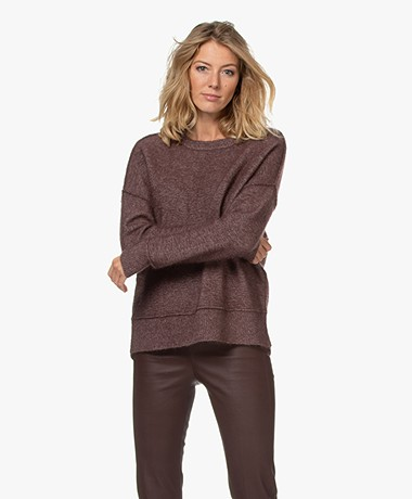 By Malene Birger Biagio Alpaca Blend Sweater - Dark Plum