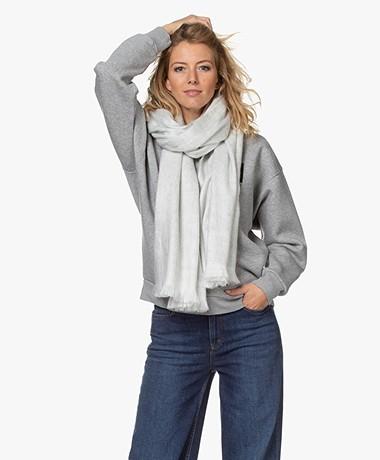 Alpaca Loca Handmade Uni Scarf in Alpaca - Light Grey