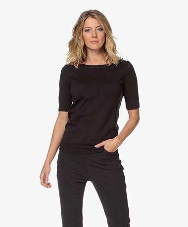 JapanTKY Kie Short Sleeve Sweater - Black