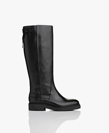 Filippa K Thelma High Leather Boots - Black