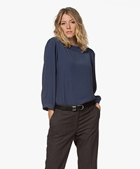 by-bar Floor Viscose Crêpe Blouse - Indigo Blue
