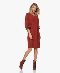 Sibin/Linnebjerg Amora Merino Blend Dress - Rust