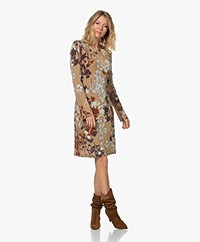 no man's land Crepe Jersey Printed Dress - Sand/Multi