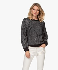 Closed Jacquard Alpaca Blend Sweater - Black
