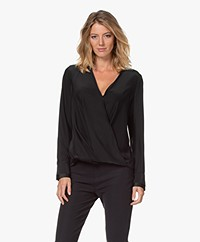 Rag & Bone Victor Silk Blouse - Black