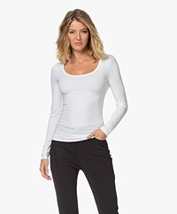 Drykorn Selima Round Neck Long Sleeve - White