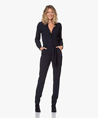 JapanTKY Jytze Travel Jersey Jumpsuit - Black Blue