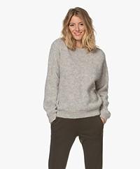by-bar Lana Alpaca Blend Round Neck Sweater - Grey Melange