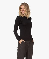 by-bar Lisa Fine Knitted Merino Pullover - Black