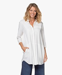 studio .ruig Oos Lange Viscose Blouse - Off-white