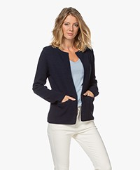 Sibin/Linnebjerg Lulu Short Cardigan - Light Navy