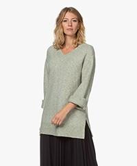 Josephine & Co Jill Alpaca Blend V-neck Sweater - Dark Mint