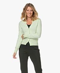 extreme cashmere N°94 Little Cashmere Cardi Vest - Lime