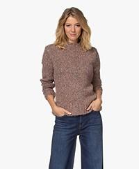 indi & cold Mouliné Multi-color Sweater - Mauve
