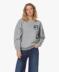 Closed Organic Cotton Print Sweatshirt - Grey Heather Melange