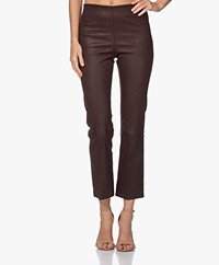By Malene Birger Florentina Leather Pants - Dark Plum