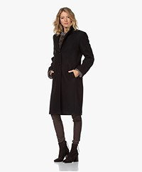 Filippa K Barnsbury Knee-length Wool Coat - Black