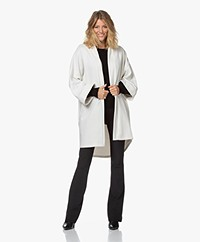 no man's land Oversized French Terry Cardigan - Off-white