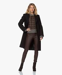 Filippa K Barnsbury Knee-length Wool Coat - Black