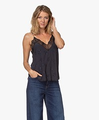Zadig & Voltaire Christy Strass Camisole - Dark Blue