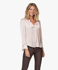 Zadig & Voltaire Tink Japanese Satin Blouse - Powder Pink