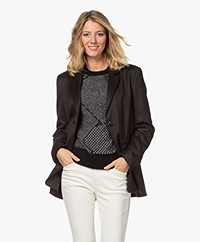 Closed Lola Straight Twill Blazer - Black