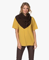 extreme cashmere N°150 Witch Driehoek Cashmere Sjaal - Donkerbruin