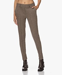 Josephine & Co Tao Slim-fit Houndsooth Pants - Brown
