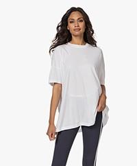 American Vintage Vegiflower Cotton Oversized T-shirt - White