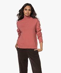 Sibin/Linnebjerg Cat Merino Wool Turtleneck Sweater - Blush