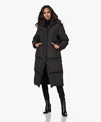 Denham Alfie Knee-length Padded Coat - Black