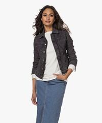 Zadig & Voltaire Kiomy Cotton Blend Denim Jacket - Grey