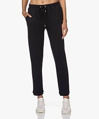 JapanTKY Hintage Tencel Blend Sweatpants - Black Blue