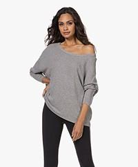 American Vintage Vetington Fine Knitted Pullover - Grey Melange